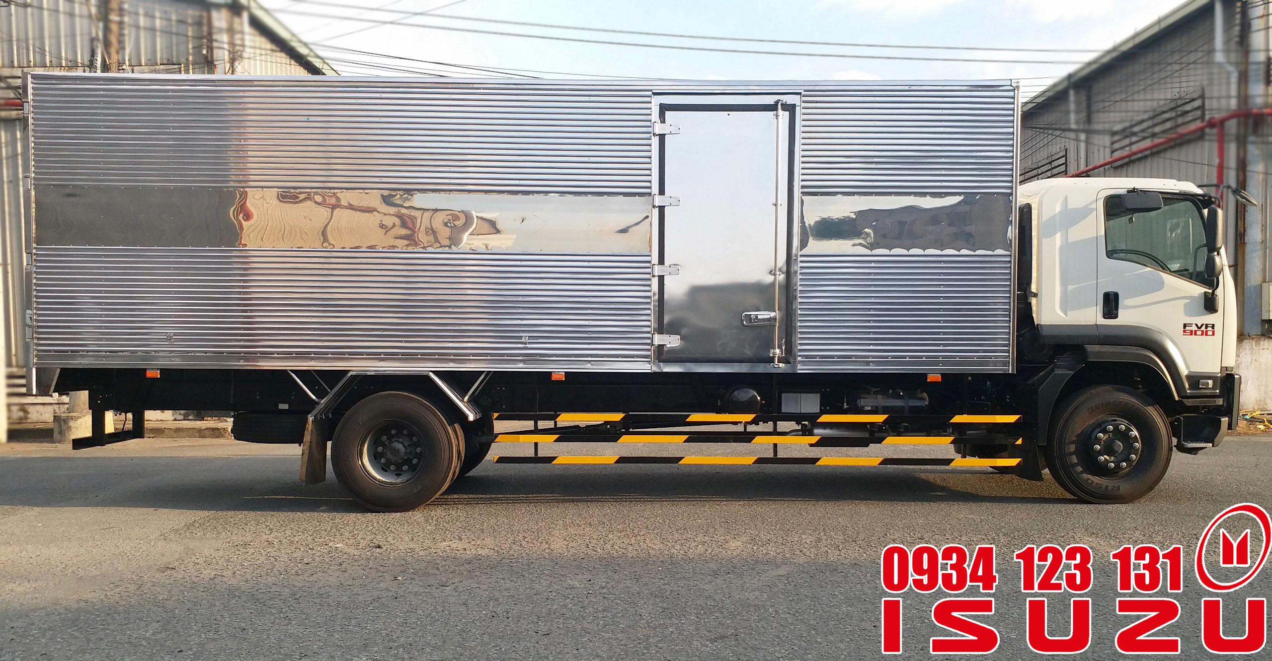 xe tải isuzu 7.5t thùng dài 9.6m